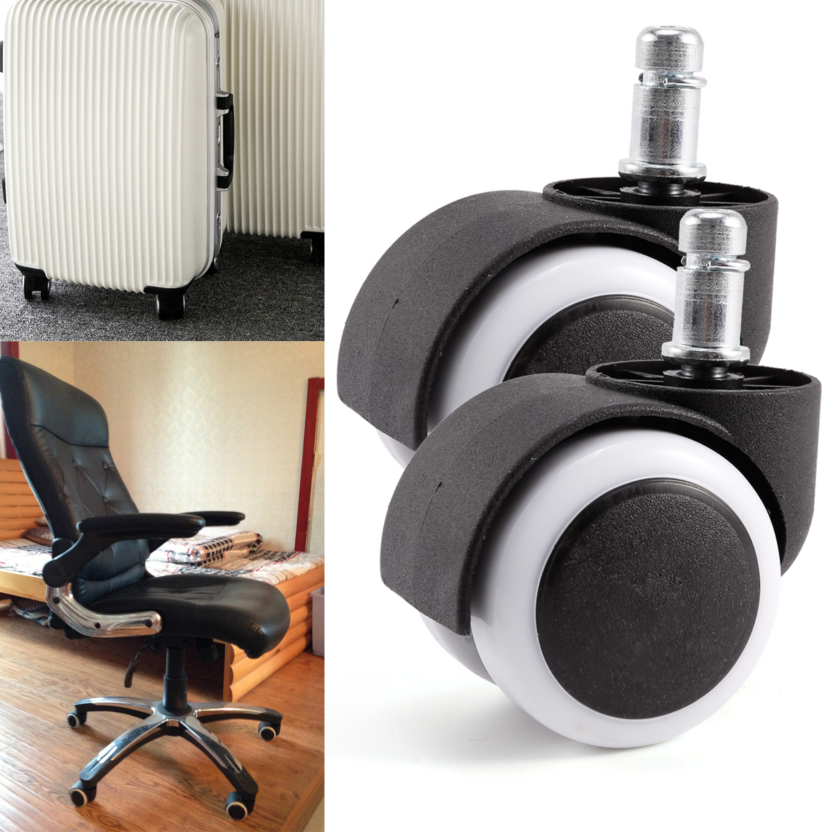 Chair Casters New 10pcs Polyurethane Rubber Office Chair Casters