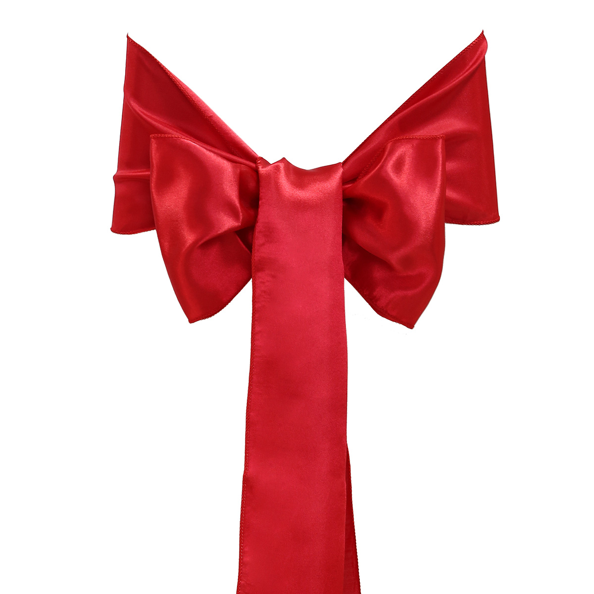 Red Chair Sashes 25 Red Satin Chair Sashes Bows For Wedding Anniversaries