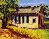 """Side View of Green Valley School House in Old Town Cordelia"" by Daphne Wynne Nixon, 2004"