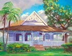 """Patria's Cottage"" 11"" x 14"", oil, by Daphne Wynne Nixon"