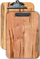 "Full Page Menu Clipboards 9.5""x 13.5"" Ambrosia Maple"