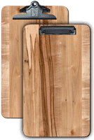 "Legal Page Menu Clipboards 9.5""x 13.5"" Ambrosia Maple"