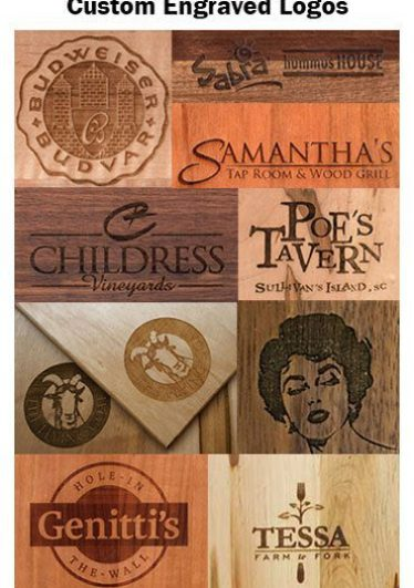 Custom Etched Restaurant Logos