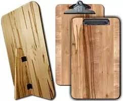 "Standing Wooden Menu Board 9.5"" x 16"" Ambrosia Maple"