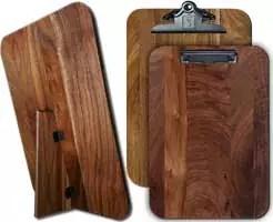 """Standing Menu Board 9.5"""" x 13.5"""" Black Walnut"""