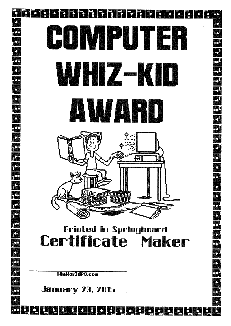 WinWorld: Springboard Certificate Maker 1