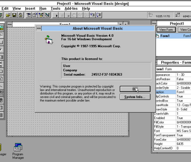 Microsoft Visual Basic 4 0