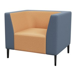 Haven Standard Back 1 Seater With Arms Metal Feet Synergy Frame Bond 800×800