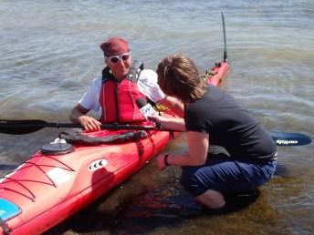 Widać, że reporterzy, to terenowcy - wody się nie boją