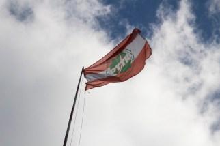Flaga na maszcie. Można płynąć (fot. Katarzyna Ugorowska)