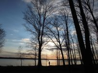 sunset on Big Eau Pleine reservoir