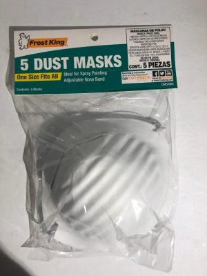 Frost King 5 Dust Masks One Size Fits All