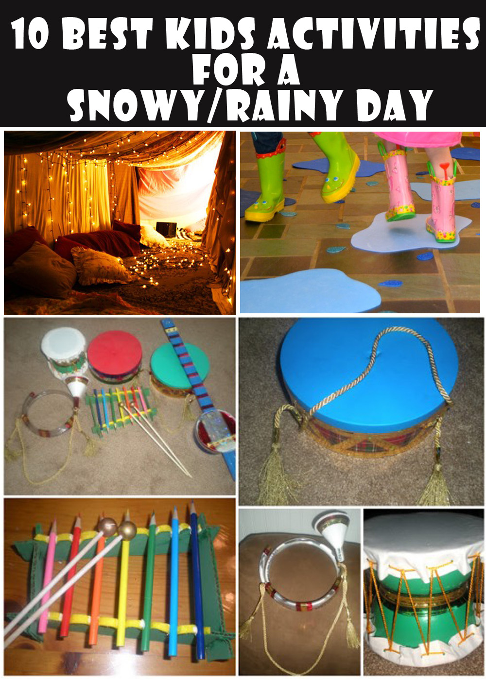 10 Awesome Indoor Activities To Do With Your Kids On A