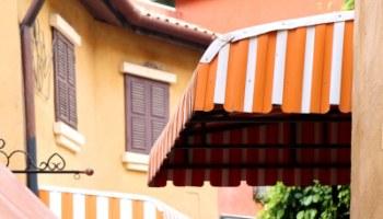 Tenda da sole con anelli 140x250h cm blu a righe. Tende Da Sole Verticali Caratteristiche E Prezzi