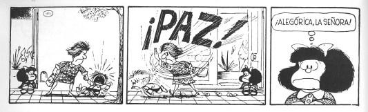 Mafalda cumple 52 años de cuestionar al mundo mafalda-paz-1