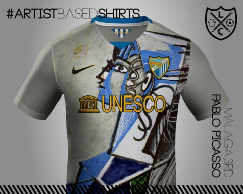 Camisetas de fútbol basadas en pinturas famosas picaso