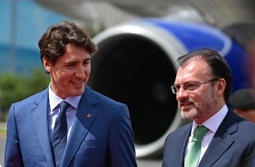 Trudeau visita México durante tensa negociación del TLCAN 000_TC2BJ