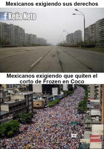 El día que los ''haters'' ganaron y Disney quitó el corto de ''Frozen'' mexicanos-exigiendo-sus-derechos-mexicanos-exigiendo-que-quiten-el-corto-de-frozen-en-coco-emvuJ-349x500
