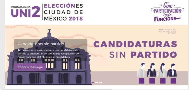 Este sábado último día de registro para candidatos independientes en la CDMX DQUmhnUU8AArH_E