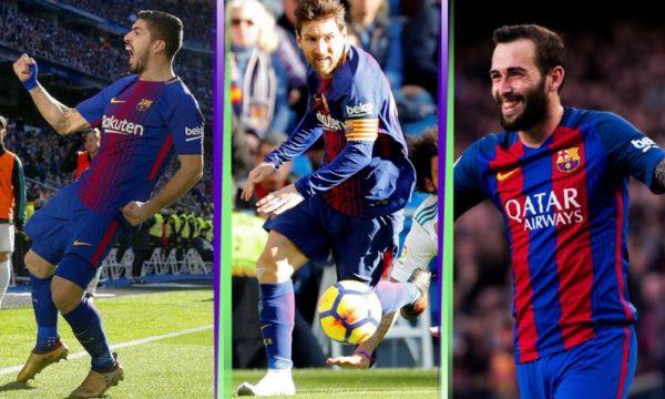 Suárez, Messi y Vidal