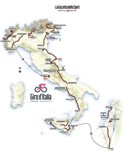Recorrido del Giro de Italia