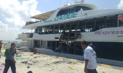 Estalla ferry en Playa del Carmen