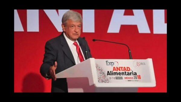 Ante la ANTAD, López Obrador aseguró que la corrupción viene desde el presidente amlo-antad-3-600x338