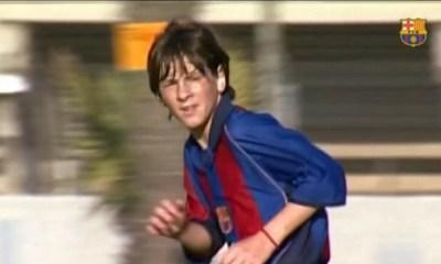 Messi debutó en el Barcelona