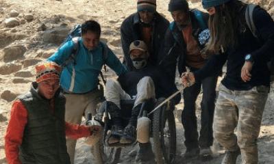 parapléjico australiano llegó al campo base del Everest, Everest, parapléjico australiano