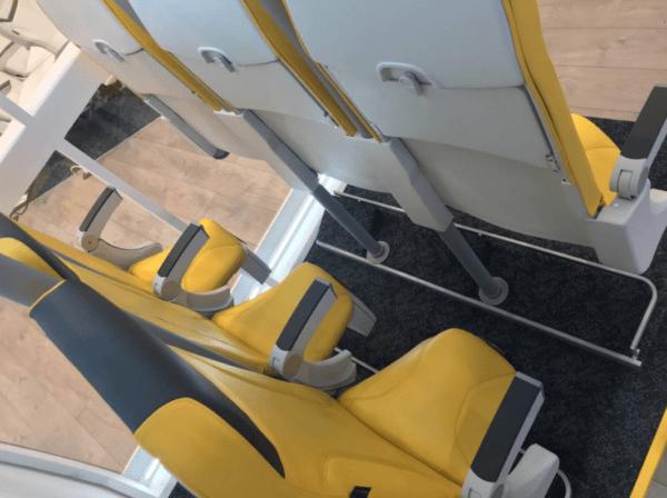 viajar de pie en un avión, transporte