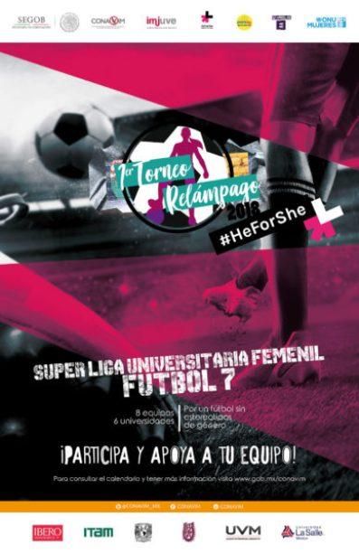 Comienza el Torneo Relámpago Súper Liga Femenil Universitaria de Futbol 7 Cartel-_torneo_futbol_redes-324x500