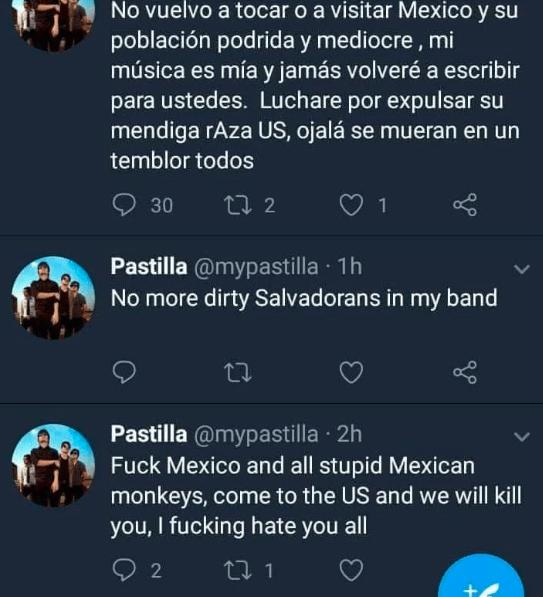 ¡Se vuelve loco!: vocalista de Pastilla arremetió contra los mexicanos Captura-de-pantalla-2018-08-15-a-las-13.44.19