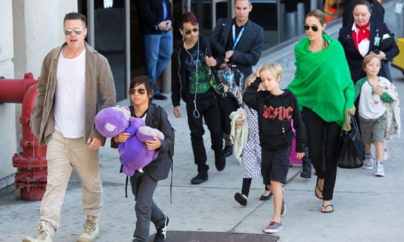 Angelina Jolie señaló que Brad Pitt debe la manutención de sus hijos Hijos-de-Angelina-Jolie-y-Brad-Pitt