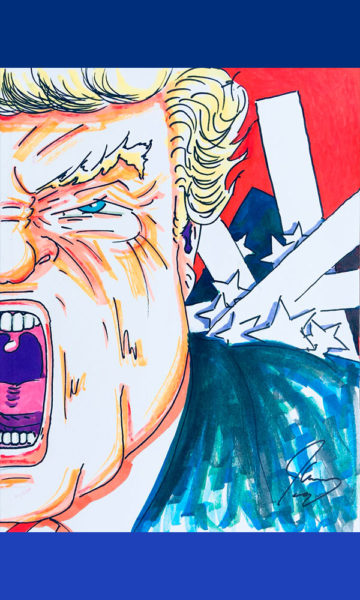 Exhibirán caricaturas de Jim Carrey sobre Donald Trump Jim-Carrey-Dibujos-05