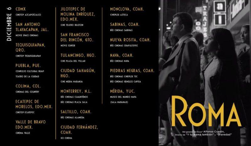 Nuevas salas de cine donde pueden ver 'Roma' de Alfonso Cuarón unnamed-1