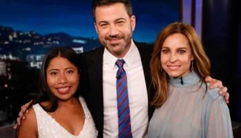 Yalitza Aparicio habló con Jimmy Kimmel