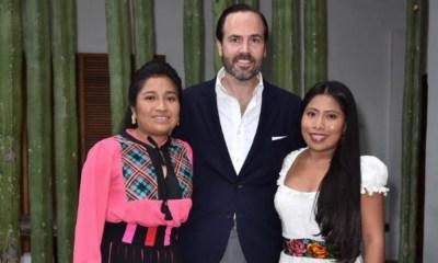 Yalitza Aparicio regresó a Oaxaca