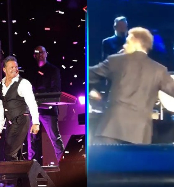Luis Miguel agrediendo