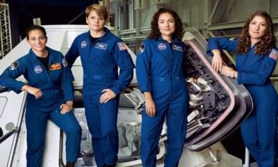 caminata espacial con mujeres astronautas