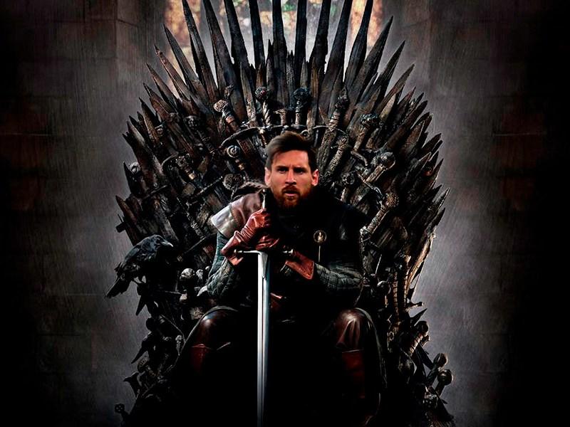 Messi para ocupar el trono de 'Game of Thrones'