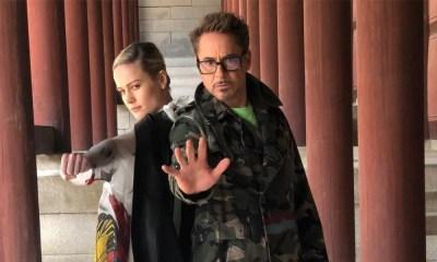 Robert Downey Jr y Brie Larson, Avengers: Endgame, Captain Marvel, Iron Man, Tony Stark, Carol Denvers, Vers