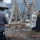 detrás de cámaras 'Winterfell'