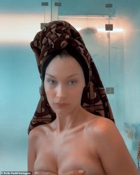 Bella Hadid subió un video sensual en Instagram y enseguida lo eliminó 13893028-7065675-image-a-64_1558672197040