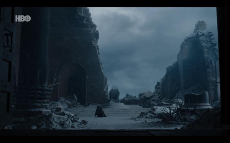 """Sexto capítulo de la última temporada de 'Game of Thrones': """"The Iron Throne"""" Dany-Jon-Trono-lejos"""
