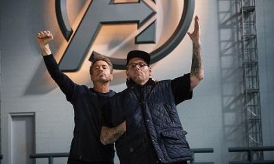 Robert Downey Jr filtró un detrás de cámaras
