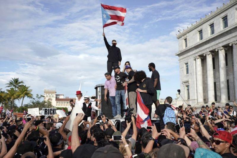 Ricky Martin y Residente encabezaron protestas en Puerto Rico 000_1IV86R