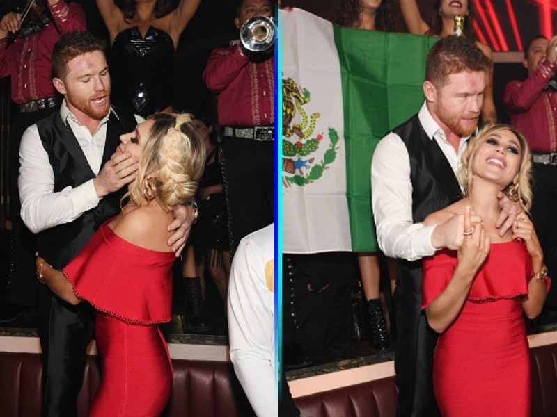 'Canelo' Álvarez bailando y cantando para su novia