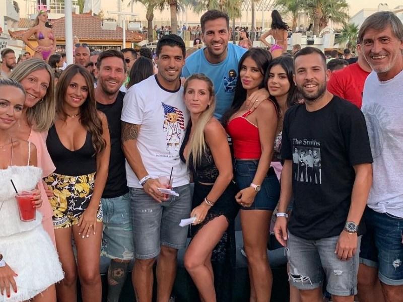 Quién es quién en las vacaciones de Messi