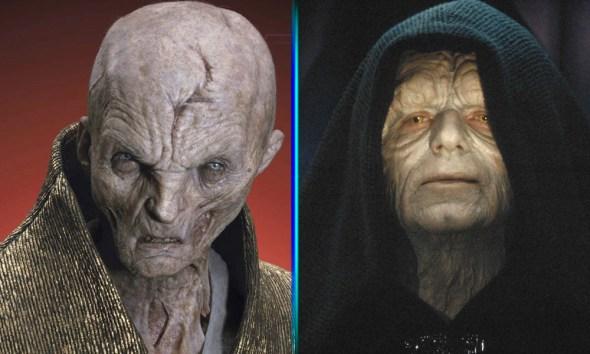 Relación entre líder Snoke y el emperador Palpatine