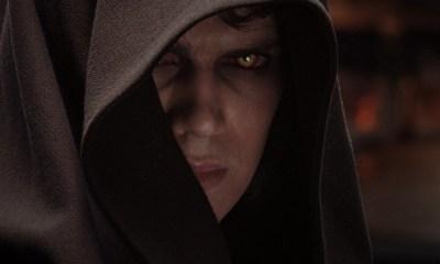 Fotos de George Lucas y Hayden Christensen